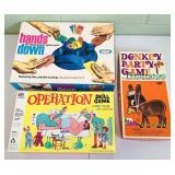 3 Board Games, Operation, Donkey Party