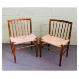 "Pair of Danish Modern Rope Chairs, 20"" wide"