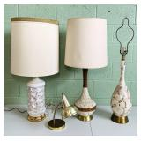4 Vintage Lamps, all work