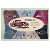 1952 Chevrolet Cardboard Dealership Sign