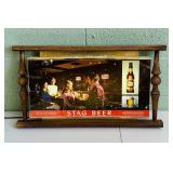 "Stag Beer Carling Brewing Lighted sign, 25"" x 14"""