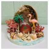 vintage Florida Pink Flamingo and Shells Souvenir