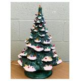 "Ceramic Christmas Tree, Lights up, 21"" high x 15""w"