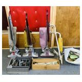 Vintage Vacuums, 2 Kirby, 1 Royal, 1 Handivac,