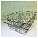 "Vintage ""Wald"" bicycle front basket"