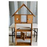 """Wood Shelf, 31"""" w x 61"""" h x 7"""""""