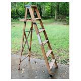 6 ft Wood Step Ladder, Made In Saginaw