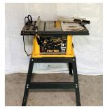 """Pro-Tech 10"""" Bench Saw, new blade, Works"""