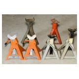 (4) 3 ton Jack Stands, plus 2 extra