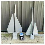 2 Boat Anchors