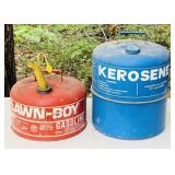 2 Metal Gas and Kerosene Cans, both have all caps