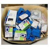 Box full of Electrical Supply, Switches, Covers,