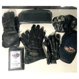 3 pairs of leather gloves/1 HD 2 hats  2007