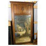 """Wooden Oak Mirror  33""""x5"""