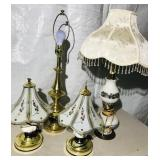 """4 Lamps  -2 Matching Lamps 15"""""""
