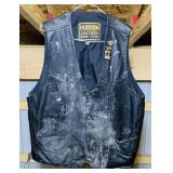 Hudson Leather Vest, 48, just needs cleaned