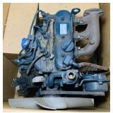 Kubota Diesel Motor, D722, has hole in block