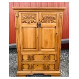 "Broyhill Pine Cabinet, 42"" w x 20"" d x 62"" high"