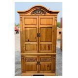 "Broyhill Pine Cabinet, 42.5"" w x 21"" d x 85.5""h"