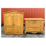 Oak Cabinet, left piece goes on top of Right