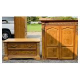 American Signature Oak Wardrobe/Tv Cabinet