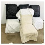 4 matching Padded chairs w/ Covers