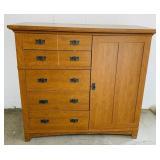 "Dresser w/Side Cabinet, 54"" w x 22"" d x 50"" H,"