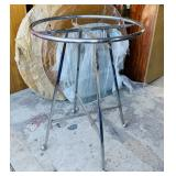 """Portable round Clothes Rack with wheels, 36"""" d"""
