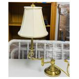 Stiffe Brass Adjustable Lamp, Heavy and Nice