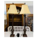Pair of Tall Pineapple Lamps