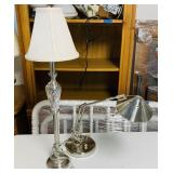 2 Stainless Steel Lamps, Both Very Nice