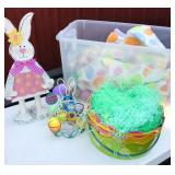 Tote of random Easter decorations