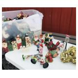 Tote of Christmas Decor/Christmas Candles