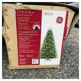 7.5 ft pre-lit GE Christmas Tree- not tested