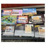 Tote of modeling buildings kits