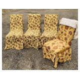 4 Matching Upholstered Fabric Chairs