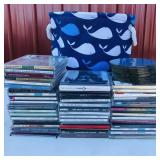 Whale tote with CDs