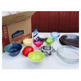 4 Boxes of Glassware, Plates, bowls, Cups