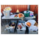 5 Totes Full of Stuff, Fall Decorations, picnic