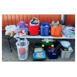 8 plus Totes full of Misc, Christmas, Garage,