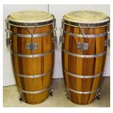 Pair of Conga Wood Drums