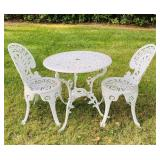 Metal Painted White 2 Person Patio Set