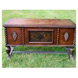 Old Cedar Lined Chest, Decorated, by E R Co.