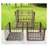 3 Sealtest Metal Crates