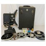 Kodascope Sixteen-10 Move Projector, w/movies