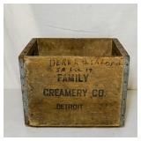 Family Creamery Co Detroit, Wood Crate, Nice!