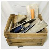 Wood Crate full of Masonry Tools