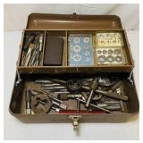 Vintage Tool Box full of Tap and Die