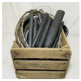 Wood Crate full of Wire and heat shrink tubes