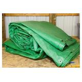 Big Green Tarp, probably another 30 x 40?